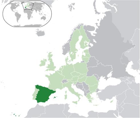 Spanien Lage