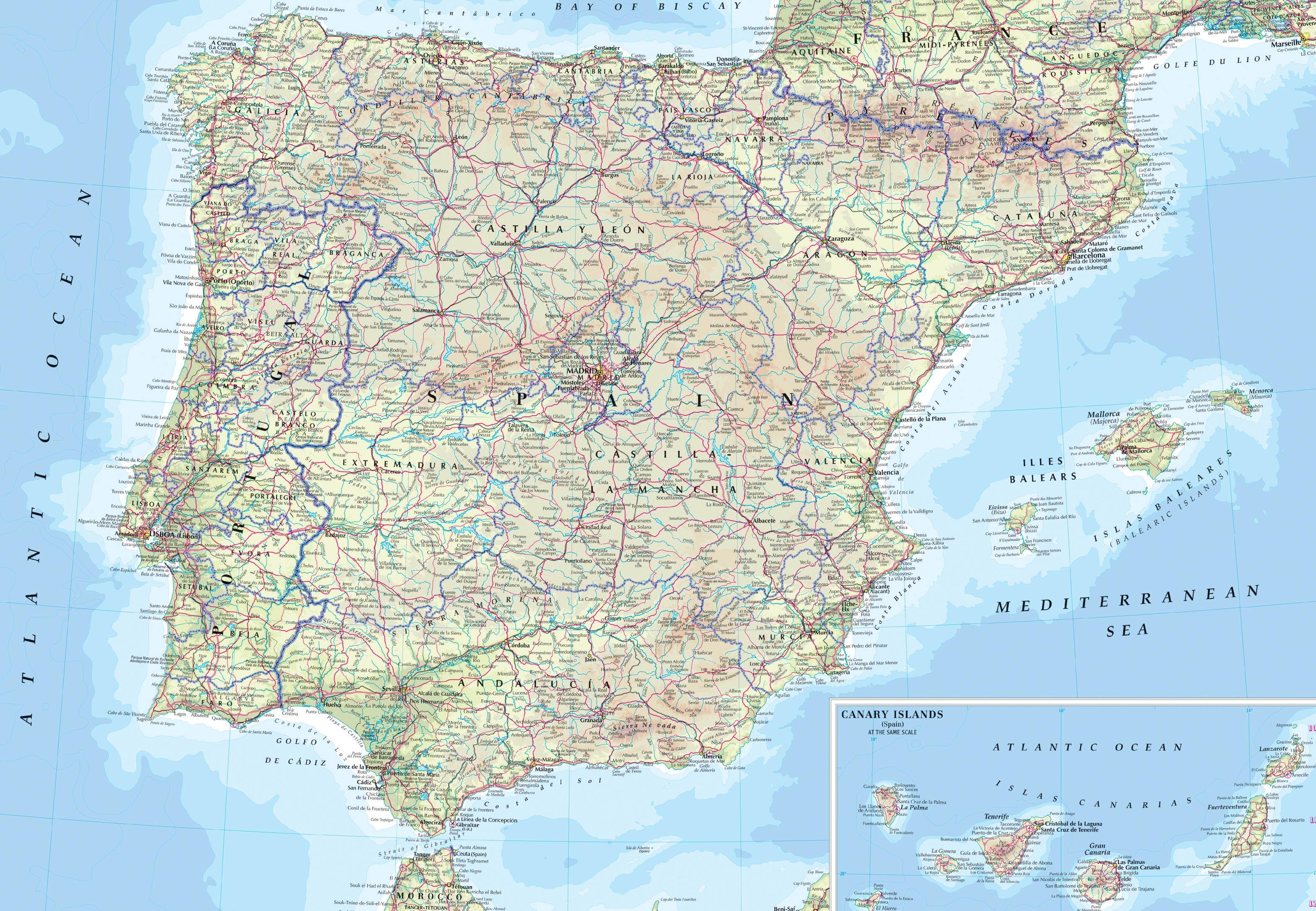 Spanien Strassenkarte