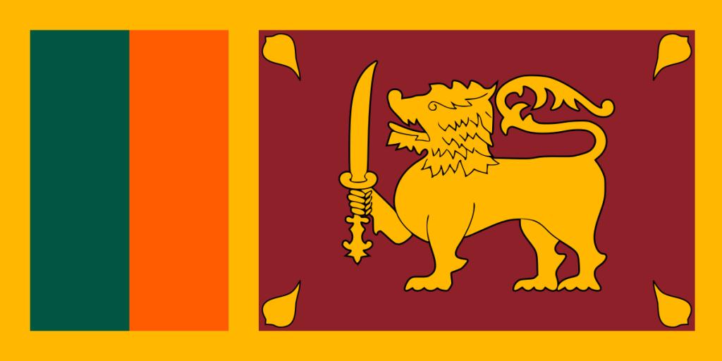 Sri Lanka-Flagge