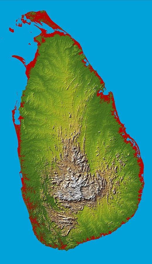 Sri_Lanka-Topografie