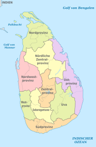 Sri Lanka-Regionen