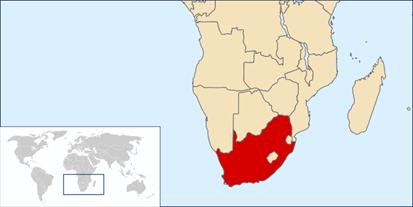 Südafrika Lage