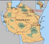 Tansania Karten