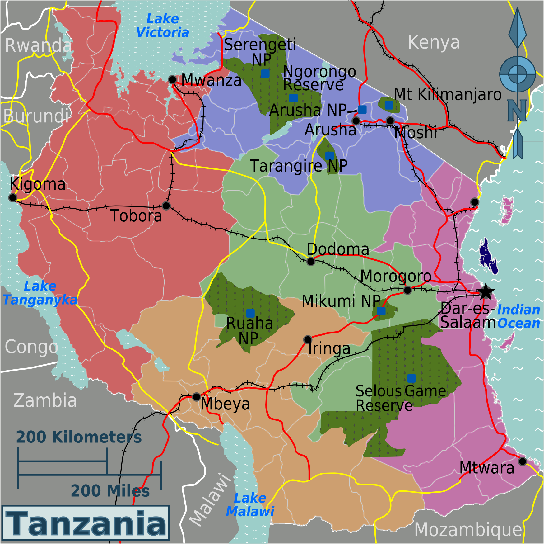 Tansania Regionen