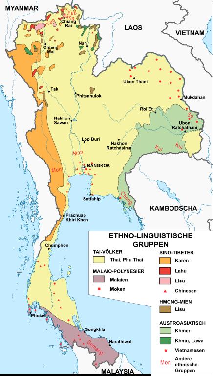 Thailand Ethnische Gruppen