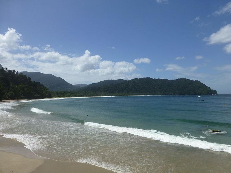 Las Cuevas Bucht auf Trinidad