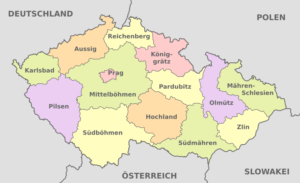 Tschechien - Karte der politischen Gliederung