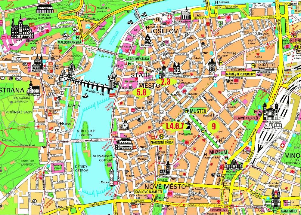 Prag Stadtplan