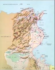 Tunesien Karten