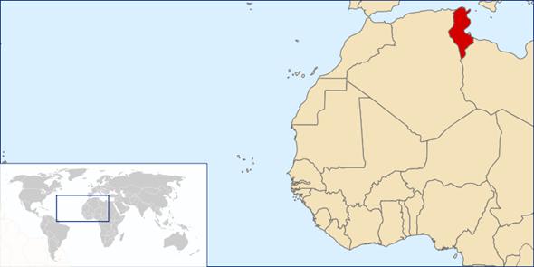 Tunesien Lage