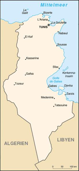 Tunesien Nachbarstaaten