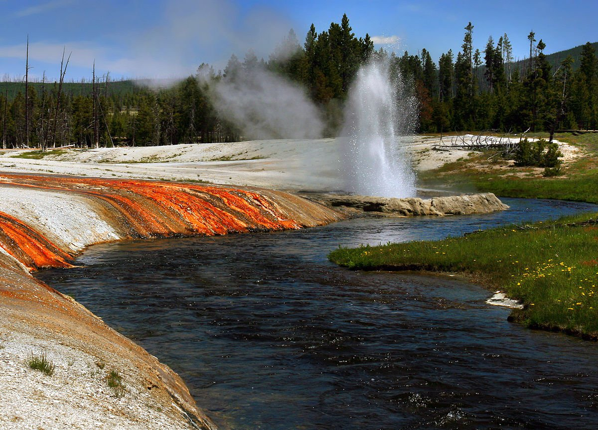 USA Firehole River Upper Geyser Basin