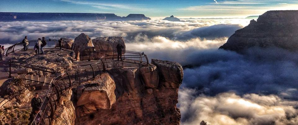 USA Grand Canyon bei Nebel