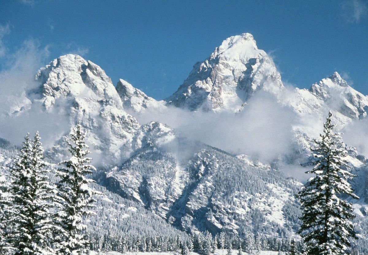 USA Grand Teton National Park im Winter