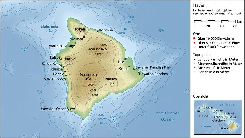 USA-Hawaii - Big Island - Topographische Karte