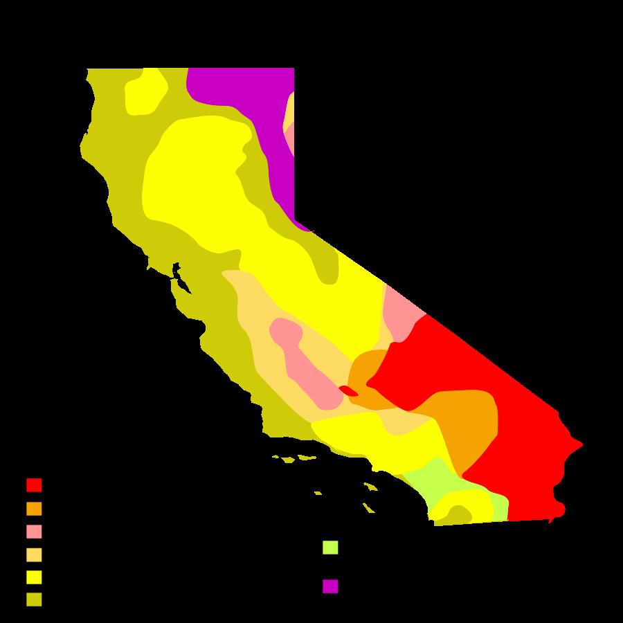 USA Karte Kalifornien Klimazonen