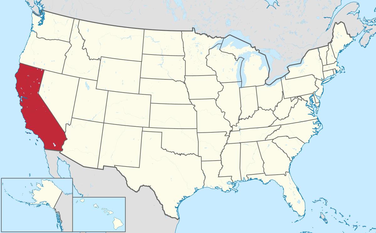 USA Karte Kalifornien