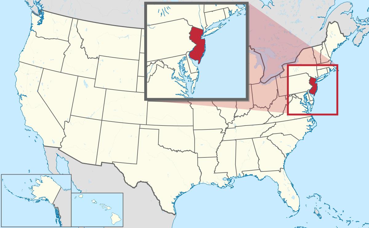 USA Karte New Jersey