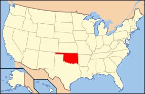 USA Karte Oklahoma