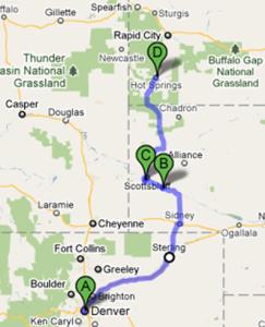Von Denver nach Hot Springs