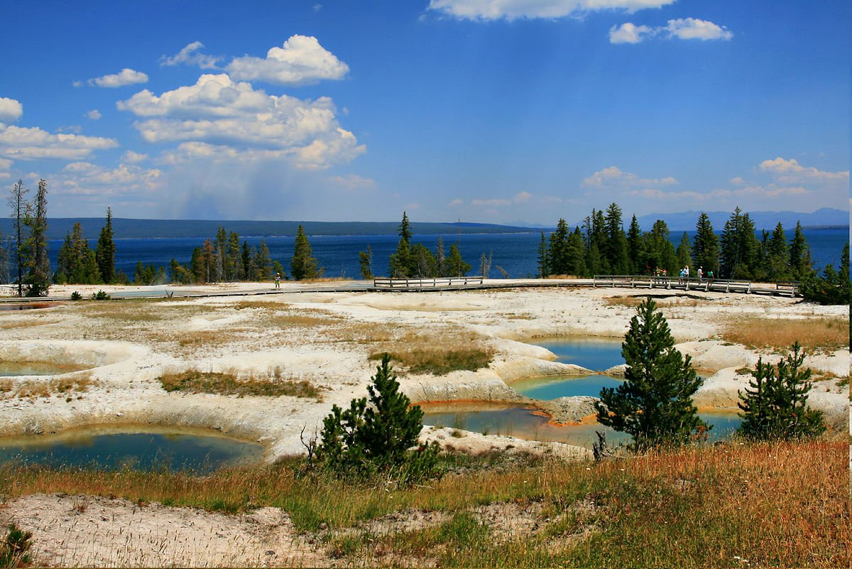 USA Yellowstone Lake und West Thumb Geyser Basin