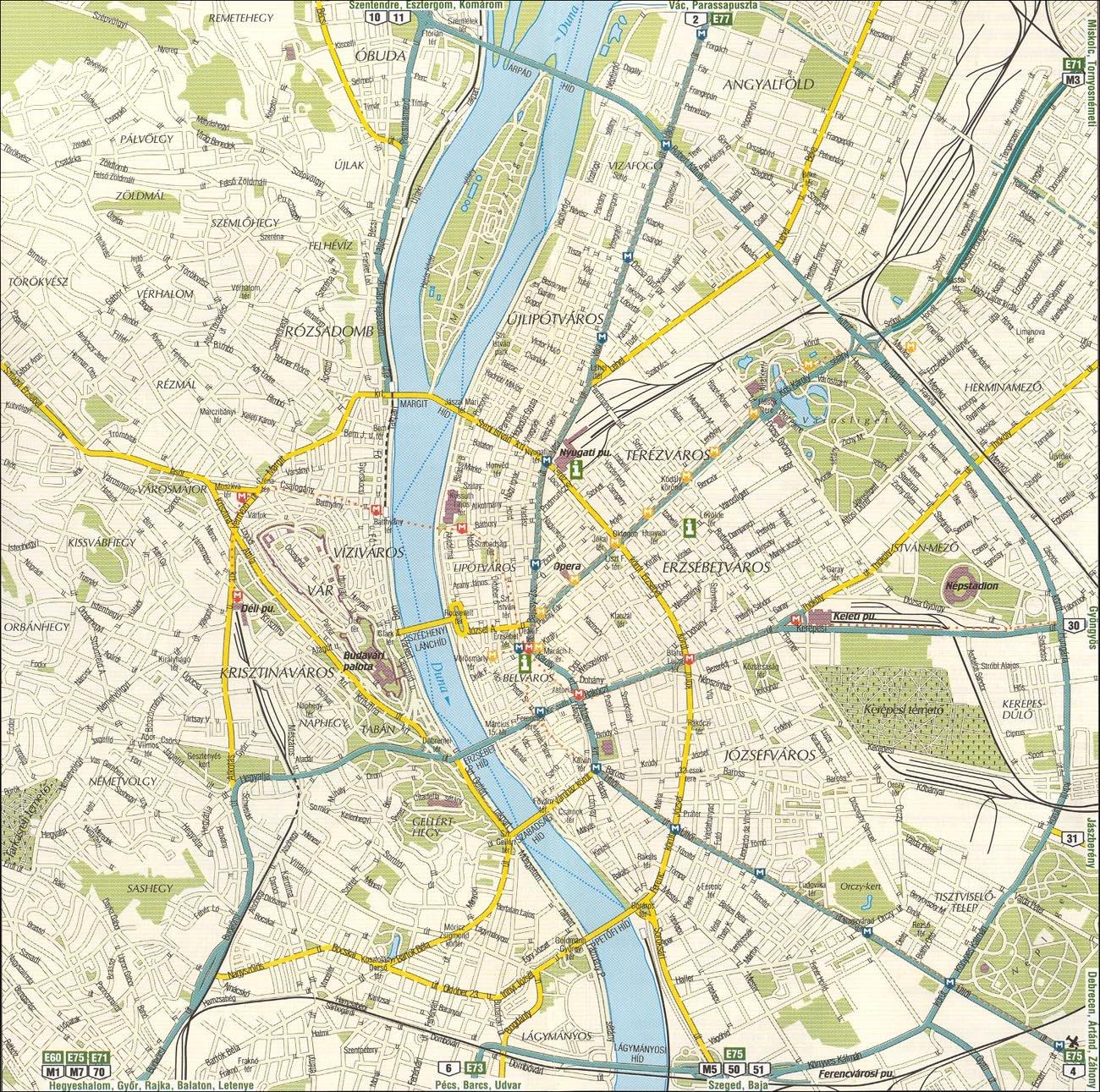 Budapest Stadtplan