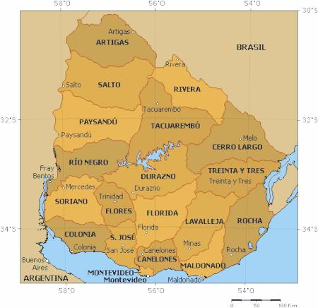 Uruguay Departementos