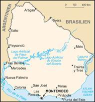 Uruguay Karten