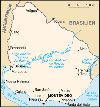 Uruguay Karte