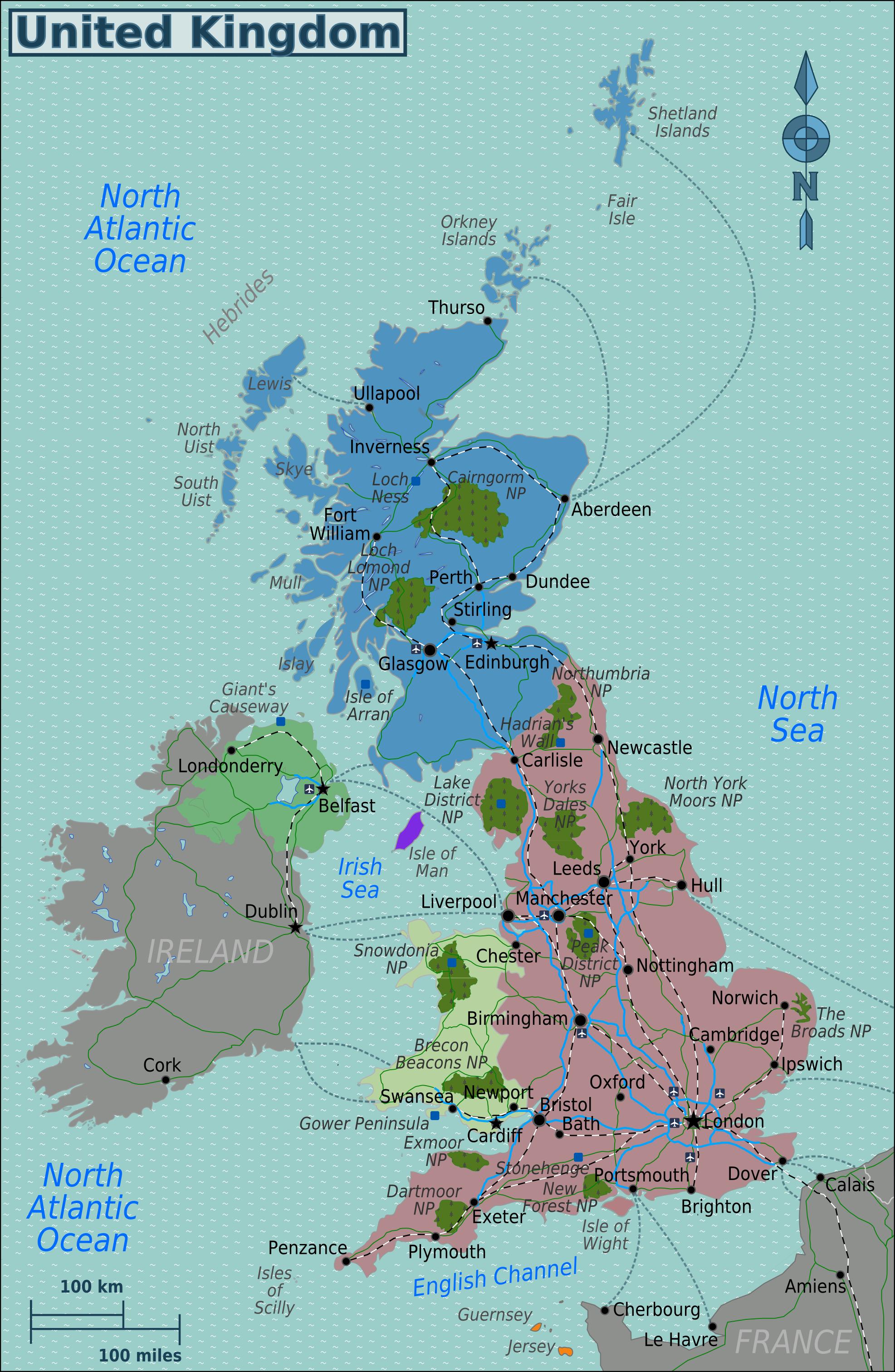 Vereinigtes Königreich Verkehrswege