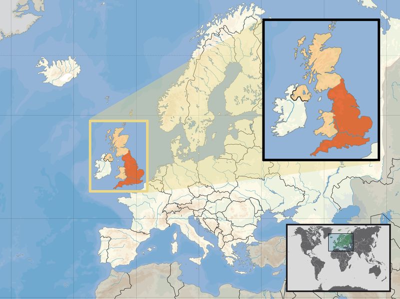 Vereinigtes Koenigreich Landkarte