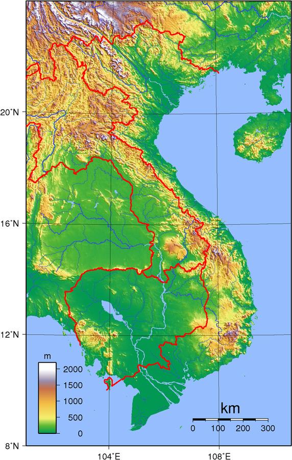 Vietnam Topographie