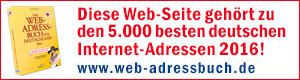 Web-Adressbuch Auszeichnung 2016